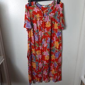 Ashley Amos tropical print lounge robe XL